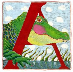 """""""A"""" is for Alligator (7 x 7)"""