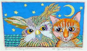 Owl and the Pussycat (Closed edition, 7-1/4 x 12-1/4)
