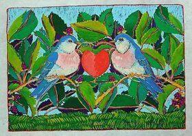 Love Birds (10 x 7 1/2)