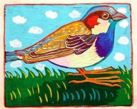 House Sparrow (4 x 5)